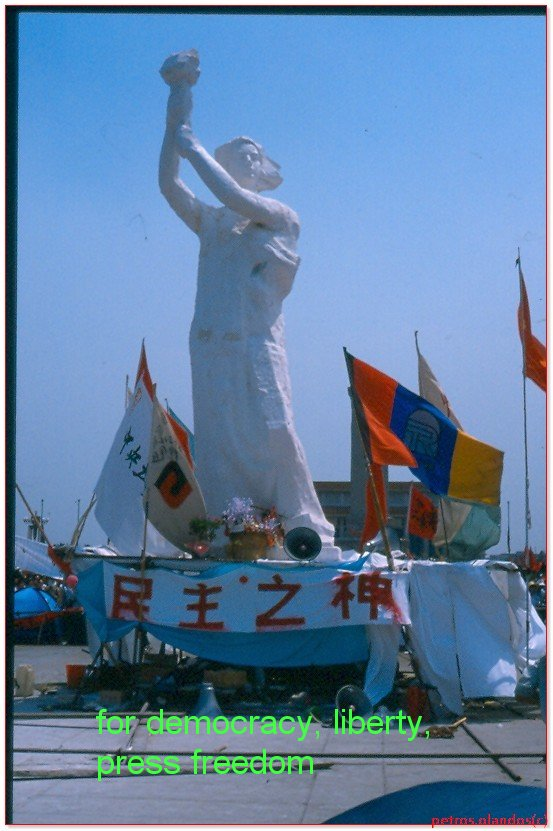 china 30 years ago erected statue of liberty 1989 june 4th